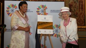 HM The Queen and Commonwealth Secretary General at launch of new Commonwealth Hub © Commonwealth Secretariat
